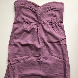 American Eagle purple strapless top